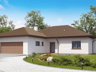 Z311 - Удобный функциональный одноэтажный дом с гаражом для двух автомобилей.