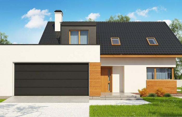 Z320 - Мансардный дом для большой семьи с гаражом, рассчитанным на две машины