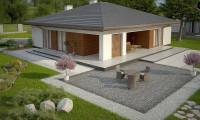 Z321 - Стильный одноэтажный дом с комфортной крытой террасой