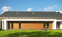 Z330 - Современный дом с двускатной крышей на узком участке
