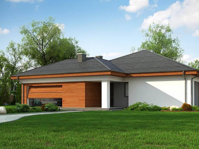 Z333 - Проект комфортного одноэтажного дома с гаражом для двух авто.