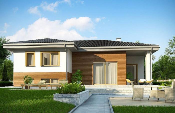 Z337 - Красивый и комфортный  однэтажный дом с цоколем