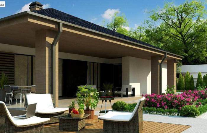 Z344 - Компактный одноэтажный дом стильного дизайна