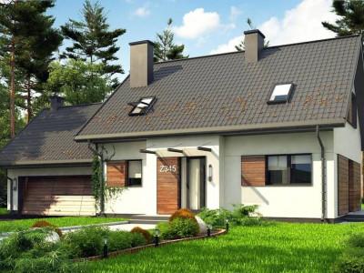 Z345 - Аккуратный мансардный дом с гаражом для двух автомобилей