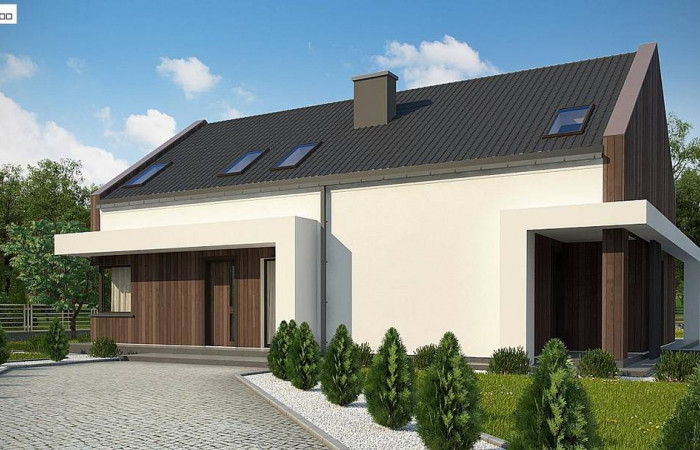 Z346 - Комфортный мансардный дом для двух семей.