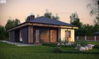 Z348 - Проект красивого одноэтажного дома с 3 спальнями