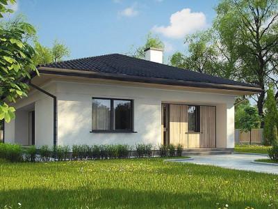Z354 - Дом для узкого участка с 4-х скатной крышей