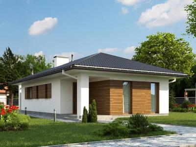 Z355 - Одноэтажный функциональный дом для небольшой семьи