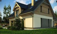 Z359 - Стильный и аккуратный мансардный дом с гаражом для двух машин.