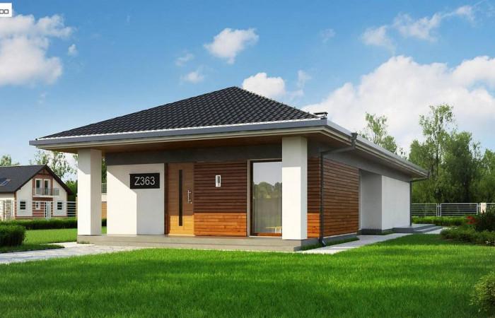 Z363 - Проект уютного одноэтажного дома с 3 спальнями