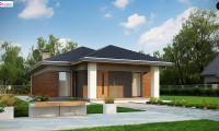 Z366 - Одноэтажный дом в традиционном стиле с просторной гостиной
