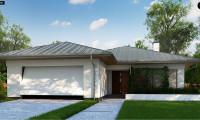 Z367 - Одноэтажный дом с гаражом на две машины