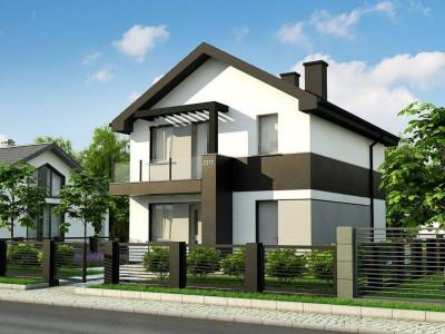 Z372 - Компактный двухэтажный дом для узких участков.