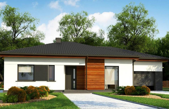 Z375 - Удобный одноэтажный дом небольшой площади