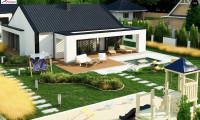 Z381 - Компактный одноэтажный дом с двускатной крышей и 3 спальнями