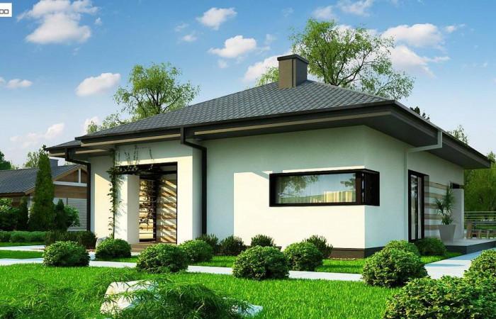 Z383 - Одноэтажный уютный дом современной планировки