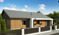 Z387 - Одноэтажный дом с 4 спальнями, гаражом и 2-х скатной крышей