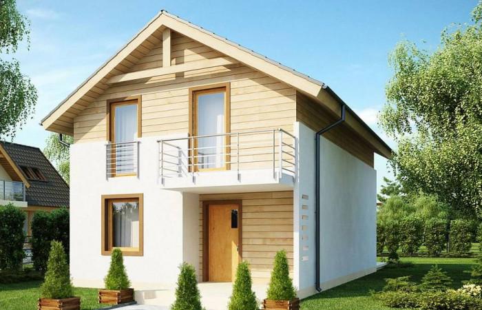 Z38 dk - Проект компактного аккуратного дома с мансардным этажом, адаптированный для каркасного строительства.