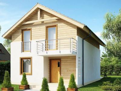 Z38 V1 - Новый вариант проекта Z38 - уютного двухэтажного дома.