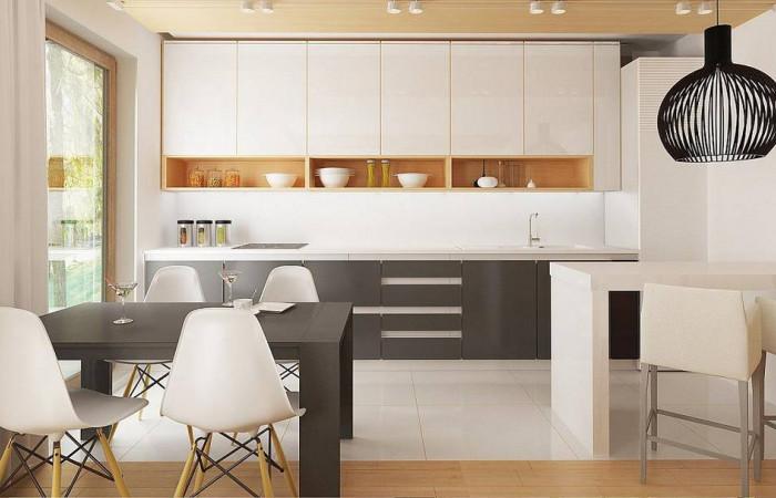 Z38 - Простой и удобный дом для узкого участка с высокой аттиковой стеной.