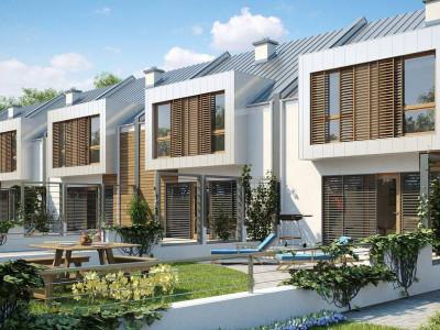 Zs1 - Проект современного дома энергосберегающей формы для последовательной застройки.