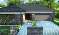 Z400 - Проект стильного одноэтажного дома в традиционном стиле