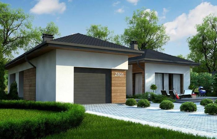 Z401 - Проект комфортного одноэтажного дома в европейском стиле.