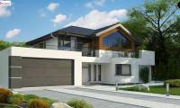 Z404 - Двухэтажный дом с гаражом на два автомобиля и двумя спальнями на первом этаже