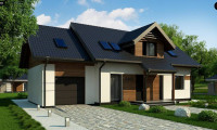 Z405 - Красивый дом в традиционном стиле архитектуры, с комнатой на пером этаже и гаражом.
