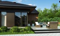 Z406 - Одноэтажный дом с большой площадью остекления в гостиной