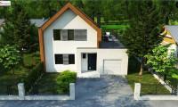 Z424 - Современный дом с двускатной крышей и гаражом для одного пользователя