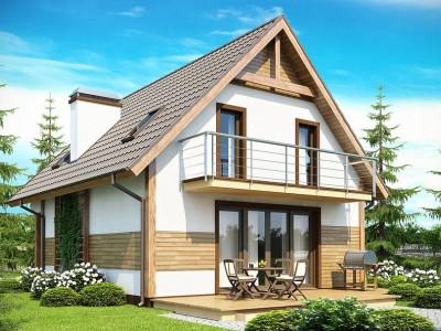 Z45 - Предложение выгодного и практичного дома, подходящего для удлиненного или, наоборот, неглубокого участка.