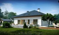 Z51 - Проект просторного дома с многоскатной крышей.