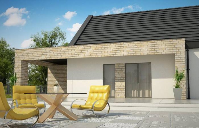 Z53 A - Компактный одноэтажный коттедж современного дизайна