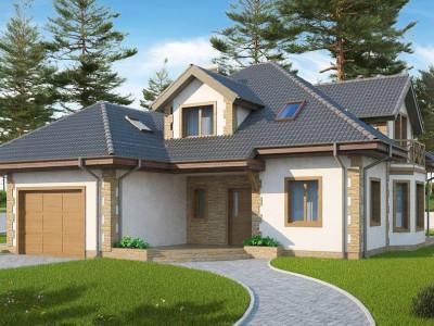 Z58 z blk - Просторный и уютный дом с мансардным этажом, подвариант проекта Z58.