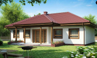 Z5 - Симметричный одноэтажный дом с многоскатной кровлей.