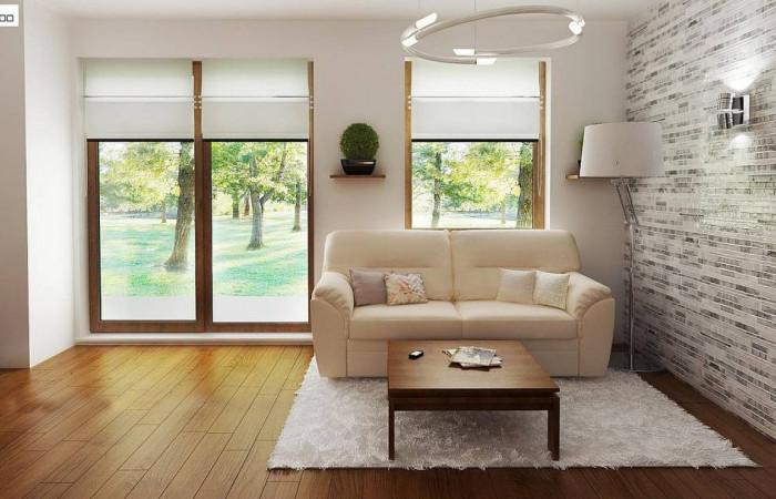 Z60 - Выгодный в строительстве и эксплуатации маленький одноэтажный дом с крытой террасой.