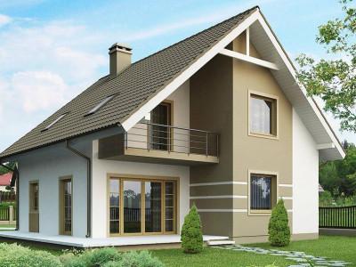 Z62 - Стильный дом с мансардой, экономичный в строительстве и эксплуатации.
