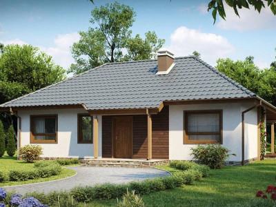 Z69 dk - Проект одноэтажного классического дома адаптированного для каркасной технологии строительства.