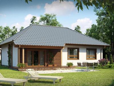 Z69 - Проект практичного одноэтажного дома в традиционном стиле.