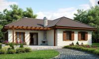 Z6 - Добротный практичный одноэтажный дом с возможностью обустройства мансарды.