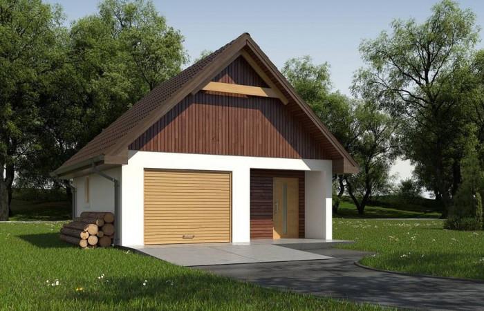 Zg2 - Гараж в традиционном стиле с подсобными помещениями
