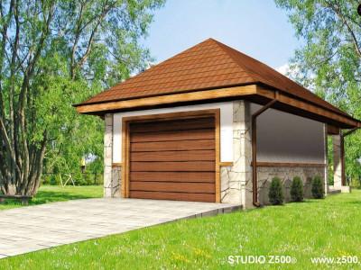 Zg7 - Аккуратный гараж в традиционном стиле на 1 машину