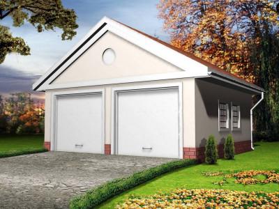 Zg11 - Проект гаража с 2 воротами классического дизайна