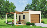 Zg13 - Проект гаража для одной машины с террасой