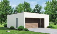 Zg16 - Проект гаража в стиле хай-тек для двух машин