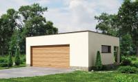 Zg22 - Проект стильного гаража с плоской кровлей для двух машин