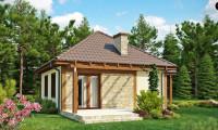 Z73 - Проект маленького уютного дома с функциональной планировкой. Оснащен всем необходимым для постоянного проживания.
