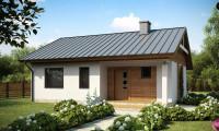 Z78 - Аккуратный небольшой одноэтажный дом простой конструкции с кухней со стороны сада.