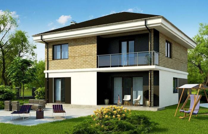 Zz1 a - Двухэтажный дом с современным дизайном экстерьера и удобным интерьером